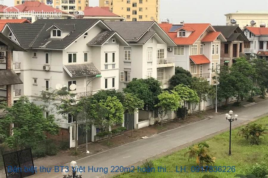 Bán biệt thự BT3 Việt Hưng 220m2 hoàn thiện giá 15,5tỷ