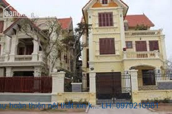 Bán biệt thự hoàn thiện nội thất xin khu đô thị Việt Hưng