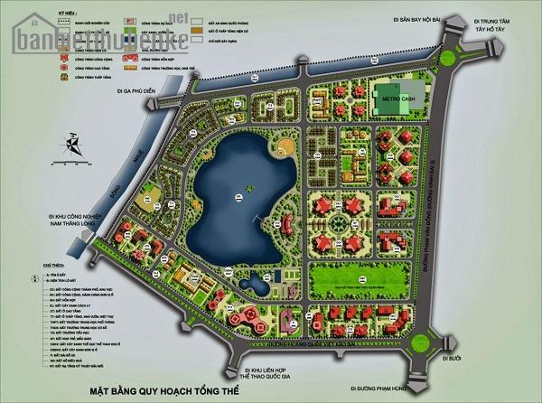Bán biệt thự mặt hồ TT1 Thành Phố Giao Lưu 220m2 giá 27tỷ