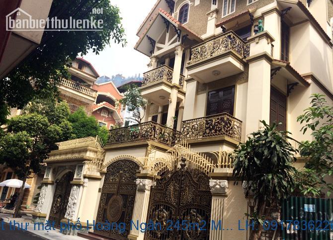 Bán biệt thự mặt phố Hoàng Ngân 245m2 MT:12m giá 70tỷ