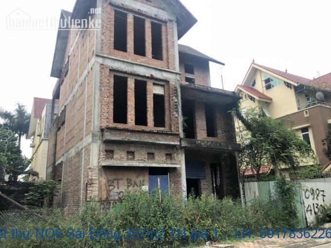 Bán biệt thự NO6 Sài Đồng 267m2 TN giá 14,5tỷ