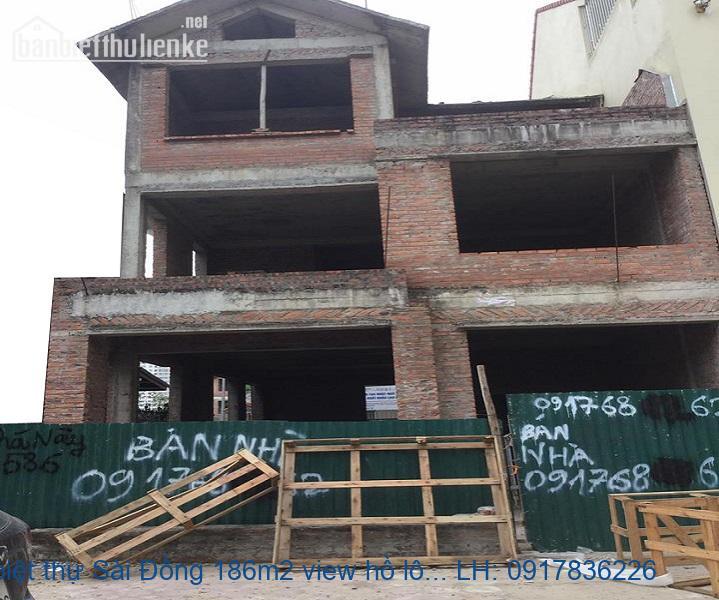 Bán biệt thự Sài Đồng 186m2 view hồ lô góc giá 18tỷ
