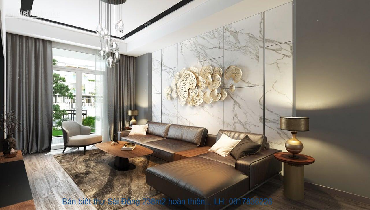 Bán biệt thự Sài Đồng 238m2 hoàn thiện TN giá 17,3tỷ