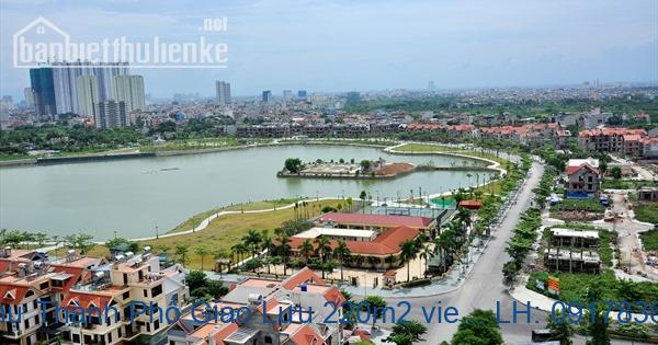 Bán biệt thự Thành Phố Giao Lưu 220m2 view hồ lô góc giá 46tỷ