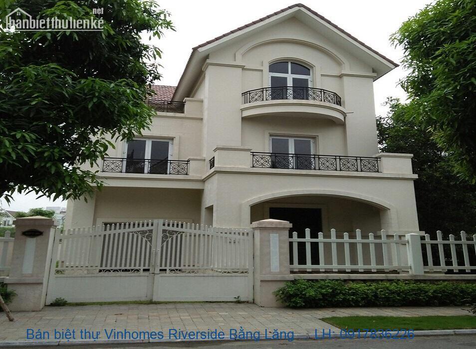 Bán biệt thự Vinhomes Riverside Bằng Lăng 350m2 TN giá 50tỷ