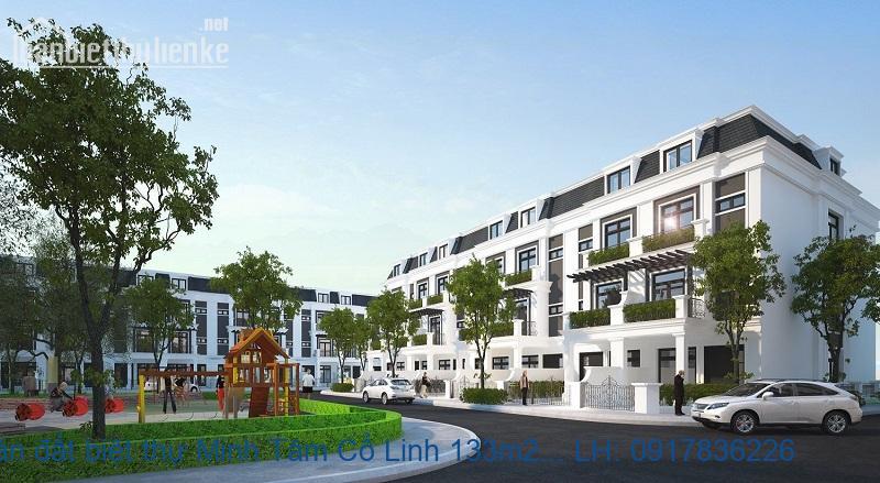 Bán đất biệt thự Minh Tâm Cổ Linh 133m2 ĐB-ĐN giá 17,3tỷ