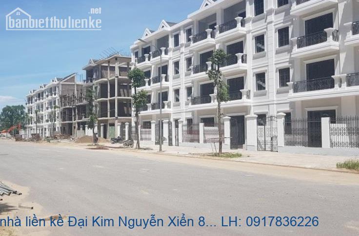 Bán nhà liền kề Đại Kim Nguyễn Xiển 82m2x4T MT:6m giá 10,3tỷ