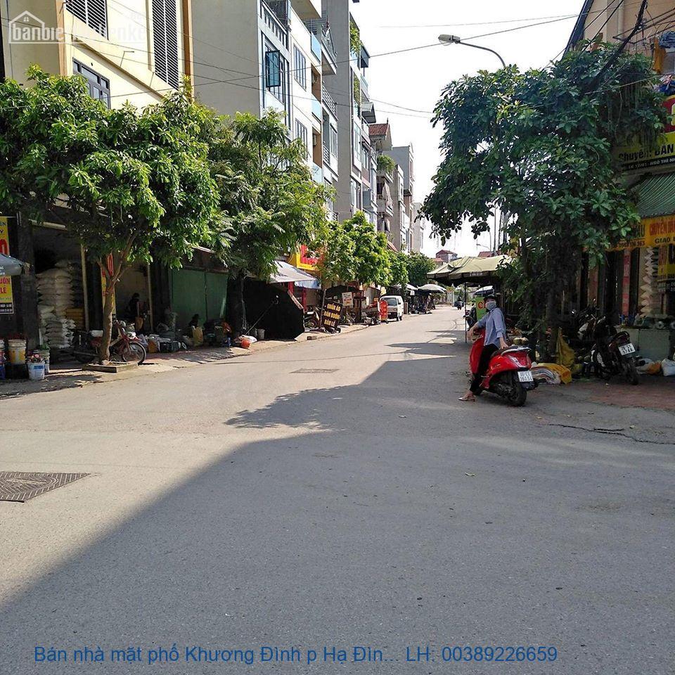Bán nhà mặt phố Khương Đình p Hạ Đình, Thanh Xuân 185m2 giá 60tỷ