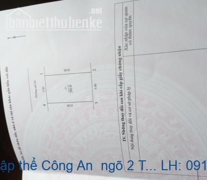 Bán nhà phân lô tập thể Công An  ngõ 2 Trần Cung, 50m2, 5 tầng