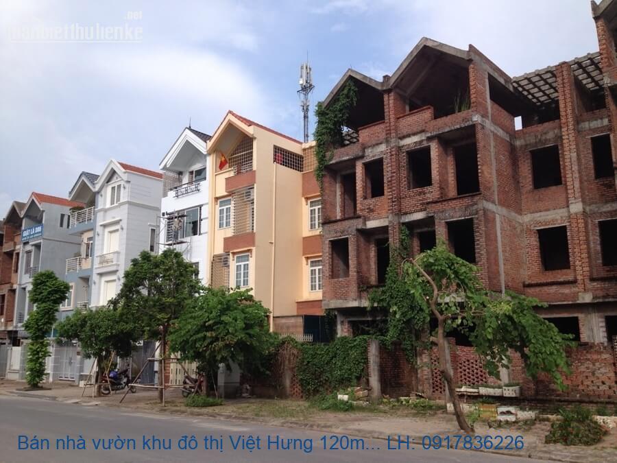 Bán nhà vườn khu đô thị Việt Hưng 120m2 hoàn thiện giá 10,5tỷ