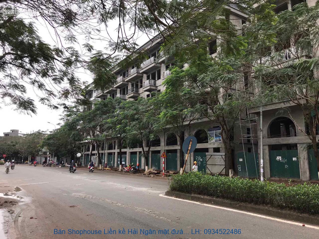 Bán Shophouse Liền kề Hải Ngân mặt đường Thanh Liệt DT 46-90m2