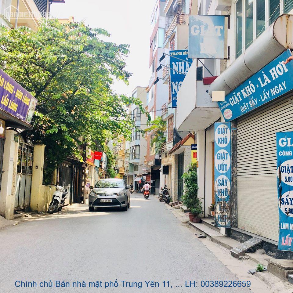 Chính chủ Bán nhà mặt phố Trung Yên 11, Cầu Giấy 85m2 giá 13,5 tỷ