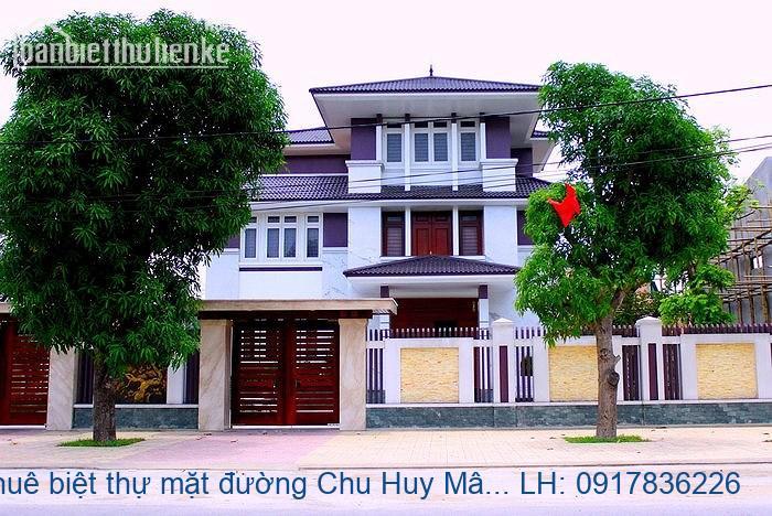 Cho thuê biệt thự mặt đường Chu Huy Mân 300m2 hoàn thiện