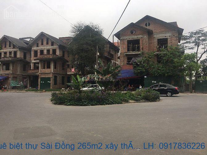Cho thuê biệt thự Sài Đồng 265m2 xây thô lô góc